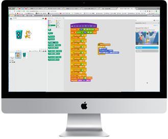 スクラッチのプログラミング画面
